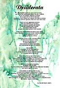 Desiderata - Words Of Wisdom Print by Sharon Cummings