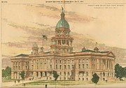State Paintings - Design for the State House Olympia Washington 1894 by William Cowe and gf Harvey Architects