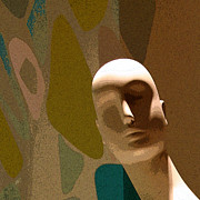 Brown Head Sculpture Prints - Design With Mannequin Print by Ben and Raisa Gertsberg