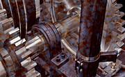 Michael Digital Art Posters - Designer PumpJack Macro V2 18122013 Poster by Michael C Geraghty