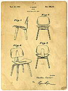 Original Photo Metal Prints - Designs for a Eames chair Metal Print by Edward Fielding
