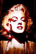 Monroe Painting Originals - Desire Marilyn Monroe by Brad Jensen