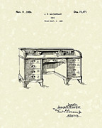 Desk Drawings Posters - Desk 1926 Patent Art Poster by Prior Art Design