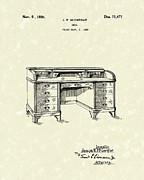 Desk 1926 Patent Art Print by Prior Art Design