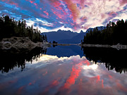 Layered Prints - Desolation Sound Print by Robert Bales