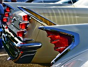 Tail Fin Framed Prints - DeSoto Tail Fins Framed Print by Paul Ward