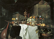 Heem Art - Dessert Still Life by Jan Davidsz de Heem