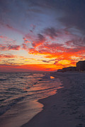 Beach Sunsets Posters - Destin Sunset Poster by Kay Pickens