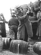 Pick Axe Prints - Destroying Barrels Of Beer Print by Underwood Archives