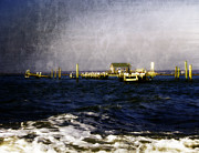 Sandy Point Park Prints - Destruction at the Breach Print by Vicki Jauron
