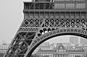 Paris Metal Prints - Detail Eiffel Tower Metal Print by Galexa Ch