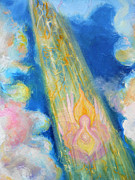 Anne Cameron Cutri Metal Prints - Detail Language in the Clouds Metal Print by Anne Cameron Cutri
