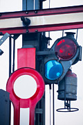 Traffic Control Posters - Detail of old railway semaphore Poster by Stephan Pietzko