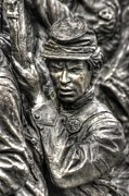 Aotp Posters - Determination.  State of Delaware Monument Detail-E Gettysburg Autumn Mid-Day. Poster by Michael Mazaika