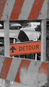 Detour Posters - Detour Ahead Poster by William R Purdy
