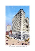 Lafayette Digital Art Prints - Detroit - The Lafayette Building - Michigan Avenue Lafayette and Shelby Streets - 1924 Print by John Madison