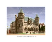 Lafayette Digital Art Prints - Detroit - The Museum of Art - Jefferson Avenue at Hastings Street - 1905 Print by John Madison
