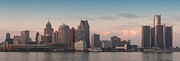 Detroit At Dusk Print by Andreas Freund
