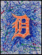Local Drawings Posters - Detroit D Poster by Lance Graves