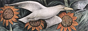 Seagull Framed Prints - Detroit Industry   detail of west wall Framed Print by Diego Rivera