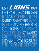 Subway Art Prints - Detroit Lions Print by Jaime Friedman