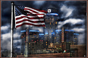 Nba Digital Art Framed Prints - Detroit MI USA Framed Print by Nicholas  Grunas