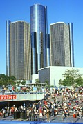 Detroit Photos - Detroit Michigan - GM Renaissance Center by Peter Art Print Gallery  - Paintings Photos Posters