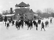 Ice Skating Photos - Detroit Michigan Skating at Belle Isle by Anonymous