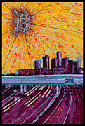 Detroit My City Print by Lance Graves