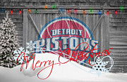 Dunk Metal Prints - Detroit Pistons Metal Print by Joe Hamilton