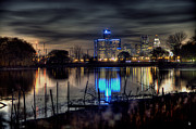 Detroit Reflections Print by Nicholas  Grunas
