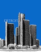 Detroit Skyline 1 - Blue Print by DB Artist