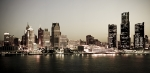 Metropolis Photo Prints - Detroit Skyline at Night Print by Levin Rodriguez