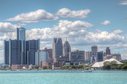 Rencen Framed Prints - Detroit Skyline Framed Print by Kathy Wesserling