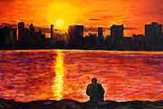 Suzanne Johnson - Detroit Skyline Sunset