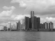 Detroit Skyscape Print by Ann Horn