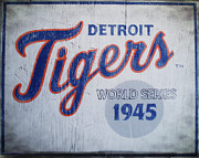 Detroit Tigers Digital Art Framed Prints - Detroit Tigers Wold Series 1945 Sign Framed Print by Digital Reproductions