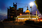 Detroit Waterfront Park Print by Rexford L Powell