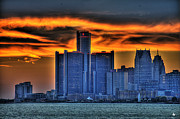 Nba Framed Prints - Detroits Sky Framed Print by Nicholas  Grunas