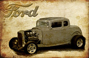 Graffitti Coupe Prints - Deuce Coupe Print by Steve McKinzie