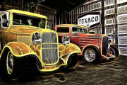 1935 Ford Coupe Posters - Deuces Poster by Steve McKinzie