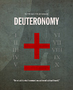 Jew Prints - Deuteronomy Books of the Bible Series Old Testament Minimal Poster Art Number 5 Print by Design Turnpike