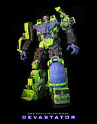 Raf Mixed Media Posters - Devastator - V3 Poster by Frenzyrumble