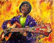 Blues Painting Originals - Devil Got the Blues by Terry Campbell