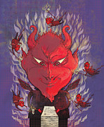 Flames Digital Art Posters - Devil in the Details Poster by Dennis Wunsch