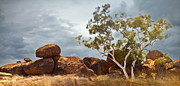 Aboriginal Framed Prints - Devils marbles Australia Framed Print by Dirk Ercken