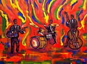 Trio Drawings Prints - Devils Music Print by Pete Maier