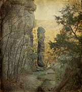 Fall Scenery Prints - Devils Smokestack Print by Sandy Keeton