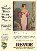 Devoe Varnish 1920s Usa Cc Portraits Print by The Advertising Archives