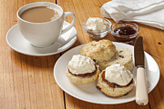 Devon Prints - Devon Cream Tea Print by Colin and Linda McKie